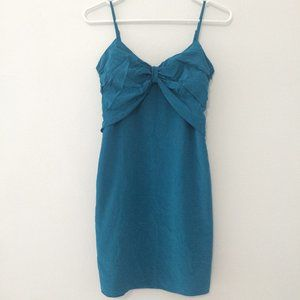 100% silk teal club monaco dress